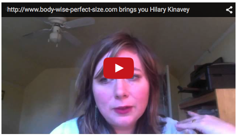 Hilary Kinevay, promoting a positive body image