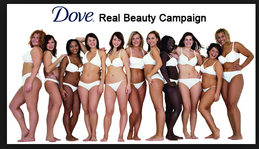 dove real beauty challenge is part of a beauty revolution - a backlash against too skinny models and photo-shopping which causes body image issues.